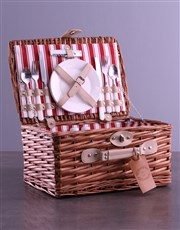 Personalised Initials Red Picnic Basket