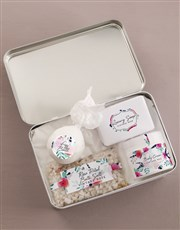 Personalised Floral Bath and Body Tin
