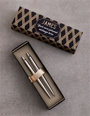 Personalised Deco Parker Pen Sleeve Box