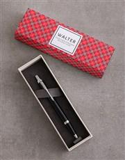 Personalised Tartan Parker Pen Sleeve Box