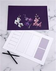 Personalised Floral Sketch Desk Pad