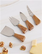 Personalised Textured  Cheese Knives