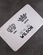 Personalised Royal Script Bath Mat