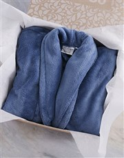 Personalised Own Message Blue Fleece Gown