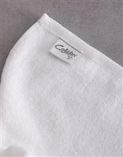Personalised Geometric Print White Towel Set