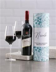 Personalised Tropical Wine Tube