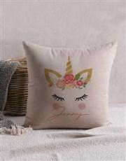 Personalised Unicorn Scatter Cushion