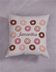 Personalised Doughnut Scatter Cushion