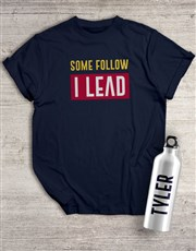 Personalised Leader Waterbottle And T Shirt