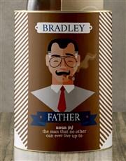 Personalised Father Bro Bucket