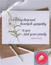 Personalised Heartfelt Lily Sympathy Card