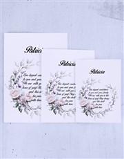 Personalised Deep Condolences Rose Card