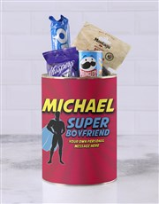 Personalised Superhero Boyfriend Bro Bucket