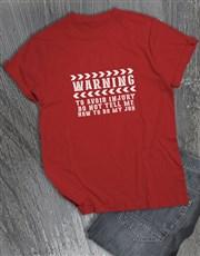 Personalised Avoid Injury T Shirt