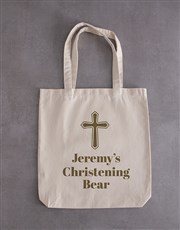 Personalised Teddy in Monogram Drawstring Bag