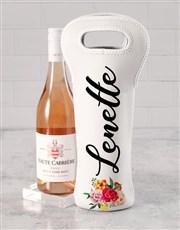 Personalised Flower Burst Wine Carrier