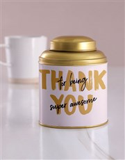 Personalised Being Awesome Tea Tin
