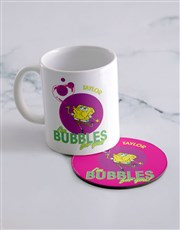 Personalised SpongeBob Bubbles Mug And Coaster