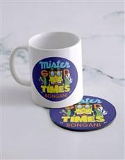 Personalised Good Times Mug And Coaster