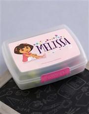 Personalised Dora Lunchbox