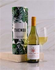 Personalised Leafy Wine Tube