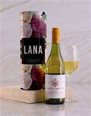 Personalised Floral Wine Tube