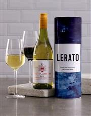 Personalised Shades of Blue Wine Tube