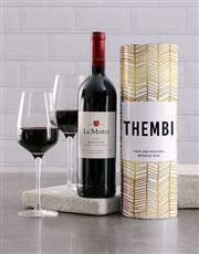 Personalised Gold Geometric Wine Tube