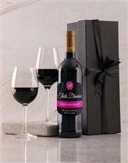 Personalised Birthday Black Giftbox