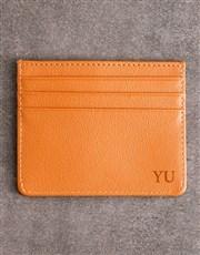 Personalised Tan Card Holder