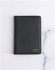 Personalised Black Passport Holder
