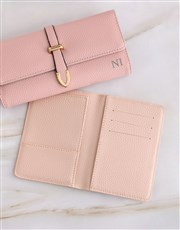 Personalised Pink Purse with Passport Holder