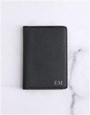 Personalised Grey Purse and Passport Holder
