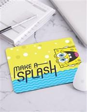 Personalised SpongeBob Make A Splash Mousepad