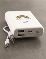 Personalised Rainbow Romoss Power Bank