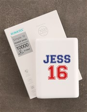 Personalised Sporty Romoss Power Bank