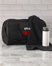 Personalised Off Duty Black Sports Bag