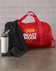 Personalised Beast Mode Navy Gym Bag