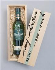 Personalised Glenfiddich Printed Crate