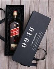 Personalised Johnnie Walker Red Label Giftbox