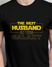 Personalised Best Husband Black Tshirt
