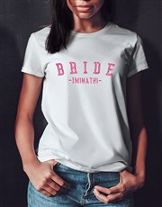 Personalised Glitter Bride White Tshirt