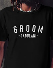 Personalised Groom Black Tshirt