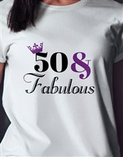 Personalised Fabulous Birthday Ladies T Shirt