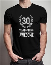 Personalised Years of Being T Shirt