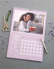 Personalised Pastel Wall Calendar