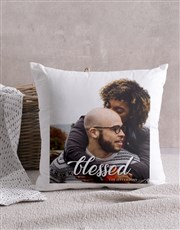 Personalised Blessed Photo Scatter Cushion