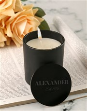 Personalised Chic Vanilla Scented Candle Set