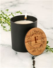 Personalised Floral Vanilla Scented Candle Set