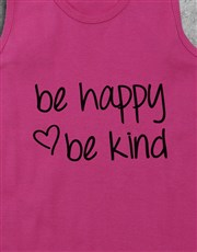 Personalised Be Kind Racerback and Water Bottle